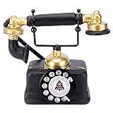 WINOMO Teléfono fijo retro antiguo de resina, con cable, para decoración de escritorio del hogar