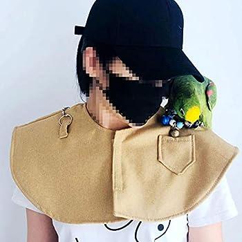 MOVKZACV Protection anti-rayures pour les épaules et les bras de perroquet, protection d'épaule anti-morsure pour aras (coussinets jaunes)