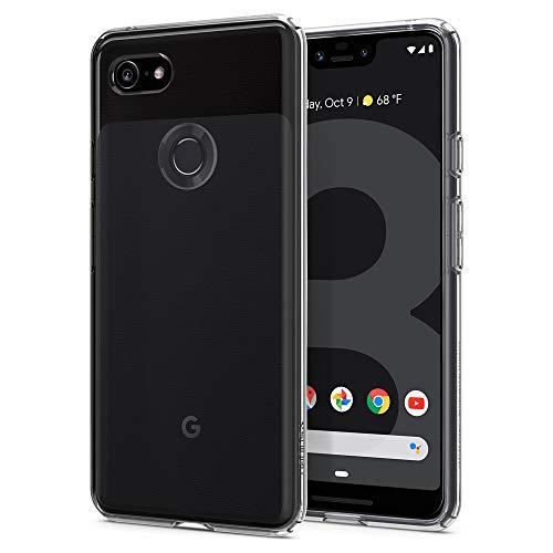 Spigen Google Pixel 3XL ケース TPU ソフトケース 全面 クリア 衝撃 吸収 カメラ保護 スクリーン保護 指紋防止 にじみ防止 薄型 軽量 リキッド・クリスタル F20CS25022 (クリスタル・クリア)