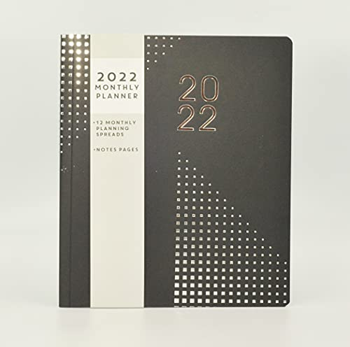 2022 Monthly Planner Month to View Diary Calendar Home Office Organiser, Black