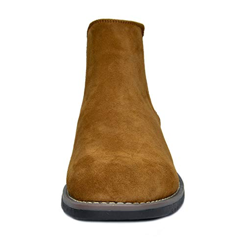 Bruno Marc Men's Urban-06 Camel Suede Leather Chukka Ankle Boots – 10 M US