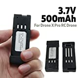 3.7V 500mAh Quadcopter Spare Parts Universal Lipo Battery Outdoor for RC Drone