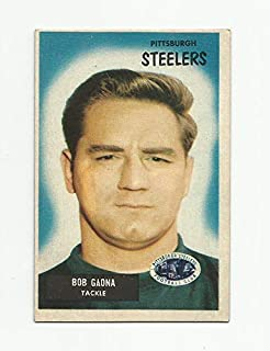 1955 Bowman Bob Gaona Pittsburgh Steelers #73 - Excellent/Mint - Great Gloss!