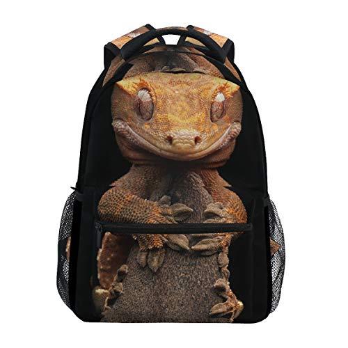 Eslifey Rucksack mit Reptilien-Gecko-Eidechsenmotiv, für Studenten, Reisen, Schule, Schulrucksäcke