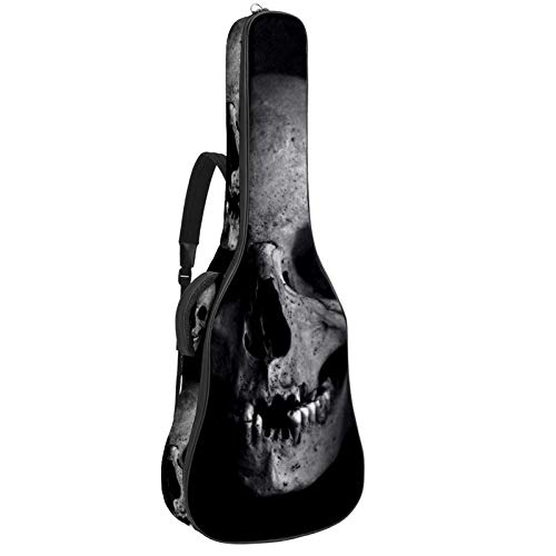 Funda para guitarra eléctrica acústica con diseño de calavera de 0,35 pulgadas...