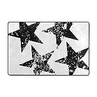 ラグ 洗える フランネル カーペット ラグマット ふわふわ肌触り 1年中使えるタイプ 床暖房対応 滑り止め付き 60cmx90cm 星
