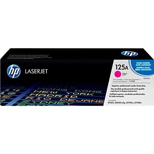 HP 125A CB543A Cartuccia Toner Originale, da 1400 Pagine, Compatibile con Stampanti HP ColorLaserJet Serie CM1300, CP1200, CM1300 e CP1500, Magenta