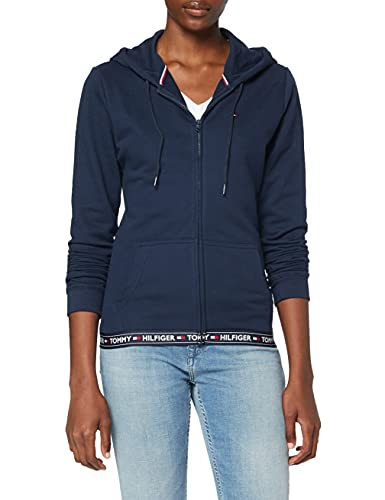 Tommy Hilfiger Hoody HWK Top de Pijama, Azul (Navy Blazer 416), Medium (Talla del Fabricante: MD) para Mujer