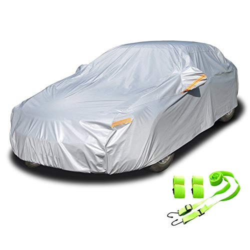 Kayme 6 Layers Car Cover Waterproof All Weather for Automobiles and car...