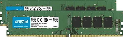 Crucial CT2K16G4DFD832A 32Go Kit 16Go x2 DDR4, 3200 MT/s, PC4 25600, Dual Rank x8, DIMM, 288 Pin Mémoire