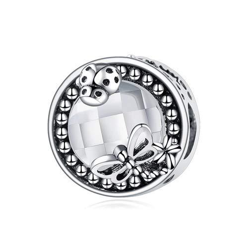Colgante De Plata De Ley 925 Btuamb Ladybug Butterfly Crystal Charms Beads Pandora Pulseras Brazaletes Para Mujeres Fiesta Diy Making Bijoux Jewelry Regalo De Cumpleaños