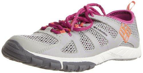 Columbia LIQUIFLY, Chaussures de randonnée femme - Gris (Lt. Grey/Spark Orange), 36.5 EU