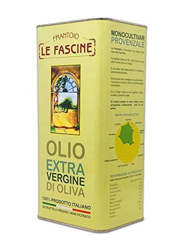 Le Fascine Aceite de Oliva Virgen Extra 100% Italiano 5L Olio Extravergine Extra Vergine D'Oliva 100% Italiano