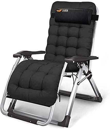 CCAN Tumbona Sillas de Patio Zero Gravity Tumbona reclinable Plegable con Almohada y portavasos para Patio Lawn Deck Home Lounge Chair Soporte 440lbs (Color, con tapete de algodón), con tapete de
