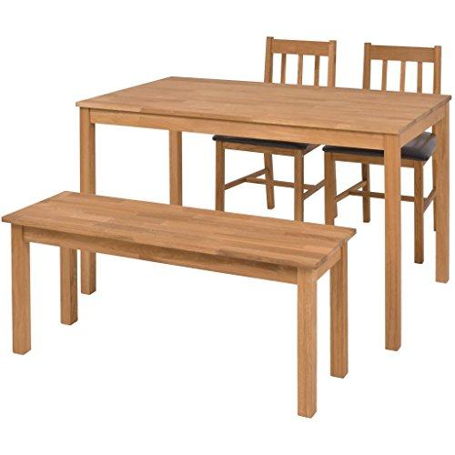 FZYHFA Esszimmergarnitur 4-tlg. Essgruppe mit Bank und Stühle Esstisch Holz Esstisch Set 43 x 48 x 85 cm