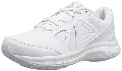 Reebok Women's Walk Ultra 6 DMX MAX Shoe, White/Steel - Wide d, 8 M US