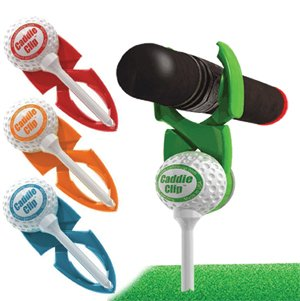 Caddie Clip 4 Pack - Golf Outing Gift Cigar Putter Clip Holder, Assorted Colors