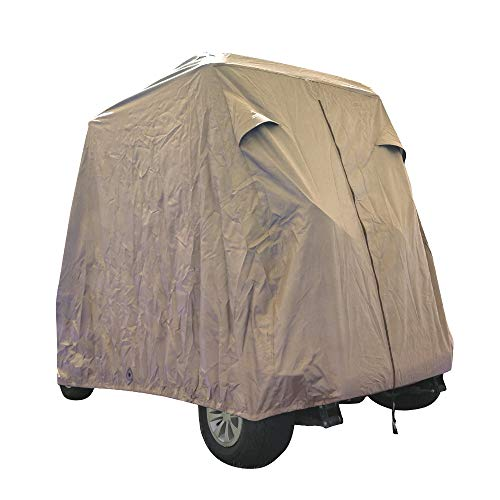 Summates Golf Cart Cover (Tan, Fit 2-Person)