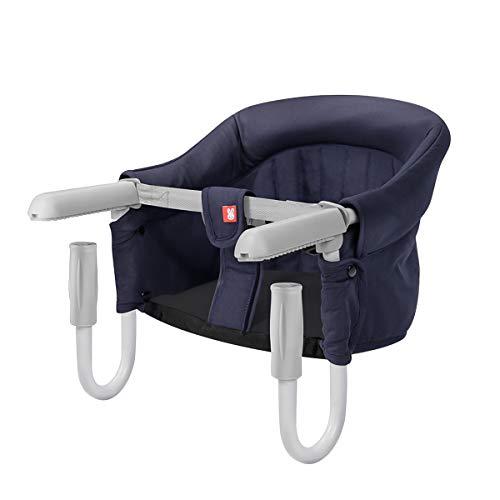 SONARIN Tischsitz Faltbar Babysitz,Baby Hochstuhl für zu Hause und Unterwegs mit Transporttasche,kinderhochstuhl(Blau)