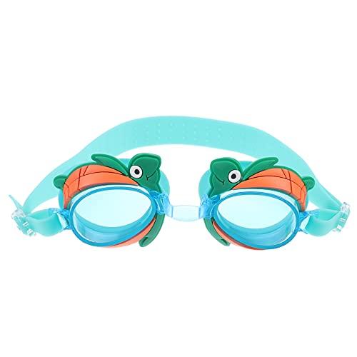 Toyvian Óculos de natação infantis de silicone PC para crianças com desenho divertido de tartaruga óculos de natação (verde)