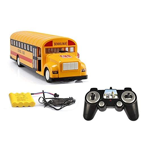 Coche de control remoto de aleación de 2,4 GHz, modelo de tráfico de ciudad, autobús, autobús escolar, modelo de autobús, coche de regalo, coche de juguete, coche de juguete educativo para niños, rega