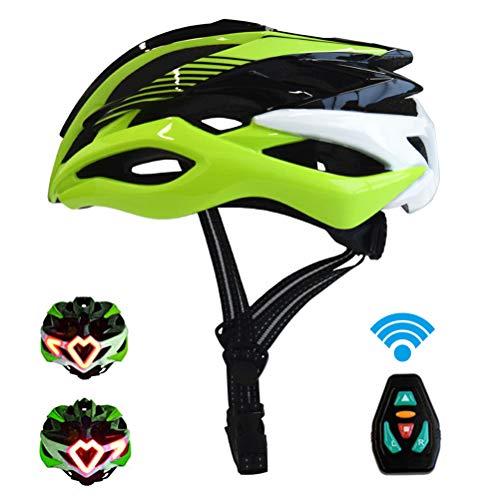 LED Fahrradhelm, Creamon USB Wiederaufladbarer Smart Helm LED Signalleuchte Fahrrad Schutzhelm Verde