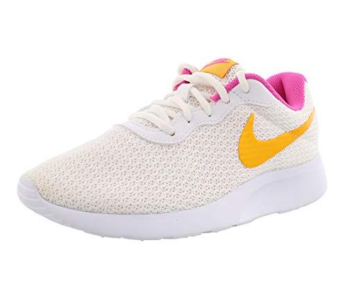 Nike Tanjun CK0062-100 White-University Gold Women's Running Sneakers 7 US