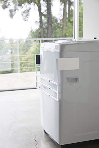 山崎実業(Yamazaki)マグネット伸縮洗濯機バスタオルハンガータワーホワイト約W39XD32XH18cmタワータオル掛け置き棚4873