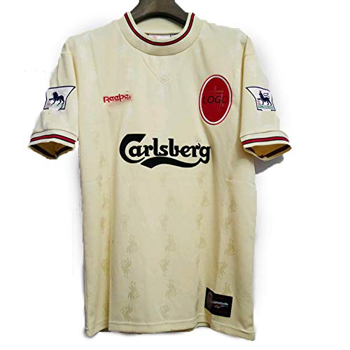 Uniforme de fútbol Retro para Hombre Camiseta Fowler 9 Owen 18, 96-97 de Distancia Conmemorativa Manga Corta Jersey de fútbol Personalizado, con Brazalete Customize-S