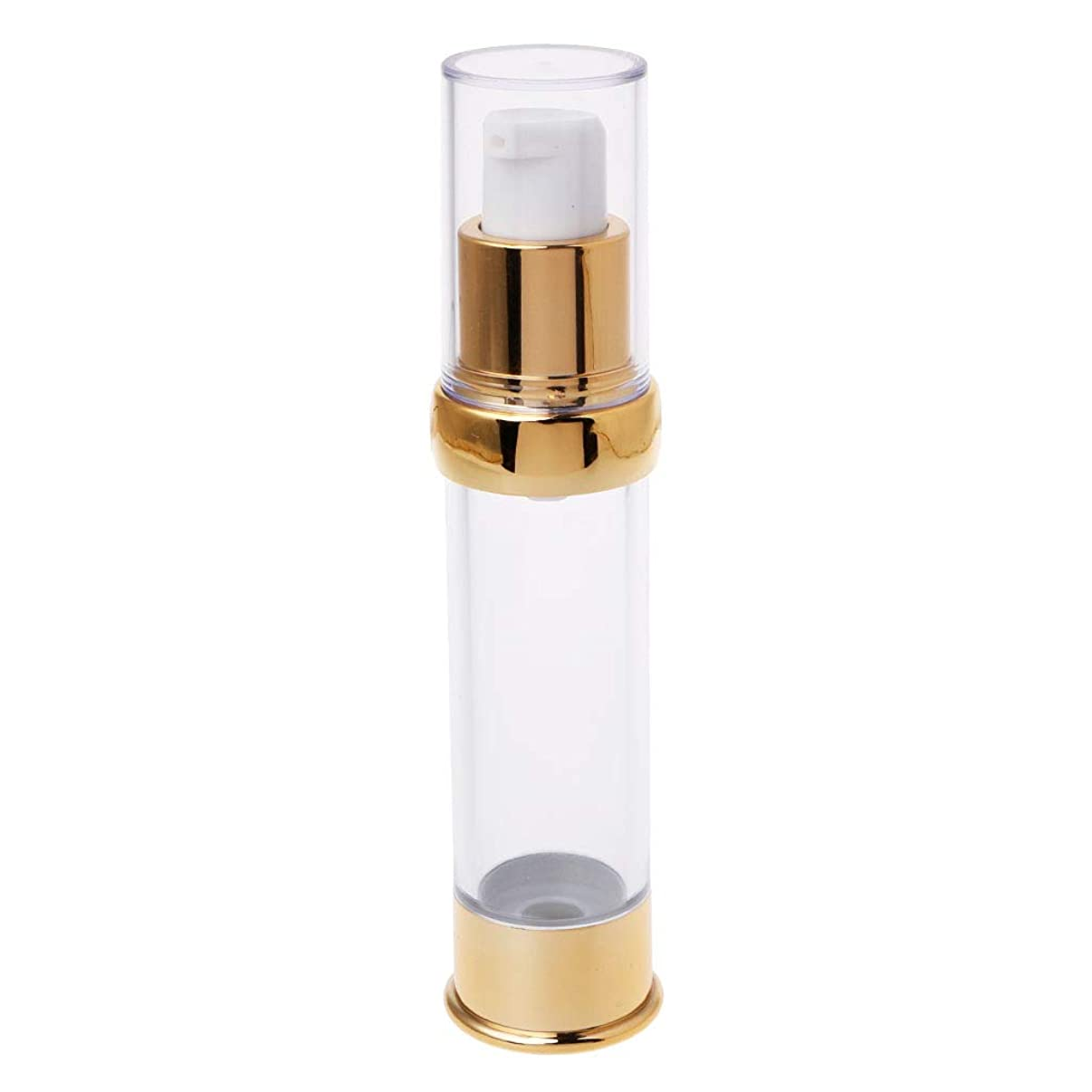 安全性カルシウム浸したDabixx トラベルエアレスボトルポンプ空スプレー化粧品真空ローションボトル15/20/30ミリリットル - ゴールド2