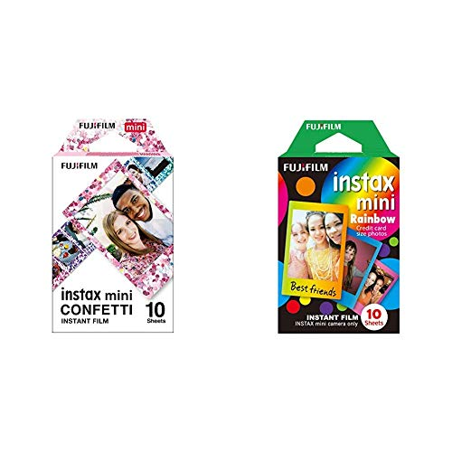 Fujifilm Instax Mini Frame WW1 Rainbow, Bunt & Mini Confetti Glass Film, Bunt metallic