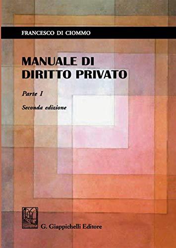 Manuale di diritto privato: 1