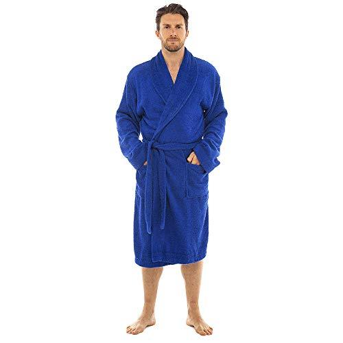 CityComfort Bata de baño para Hombres Bata de algodón 100% Terry Albornoz Albornoz Baño Ideal para Gimnasio Ducha SPA Hotel Bata Tamaño de Vacaciones M/L, L/XL, 2XL, 3XL y 4XL (4XL, Gris carbón)
