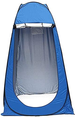 Chuen pulmonar Easy Pop Up Beach Sun Shelter Tienda Pop-Up Tent Tent Lienzo Impermeable Al Aire Libre Camping Ducha Tienda para 1 Persontents Outdoor Family Tourism Tente (Color : Blue)