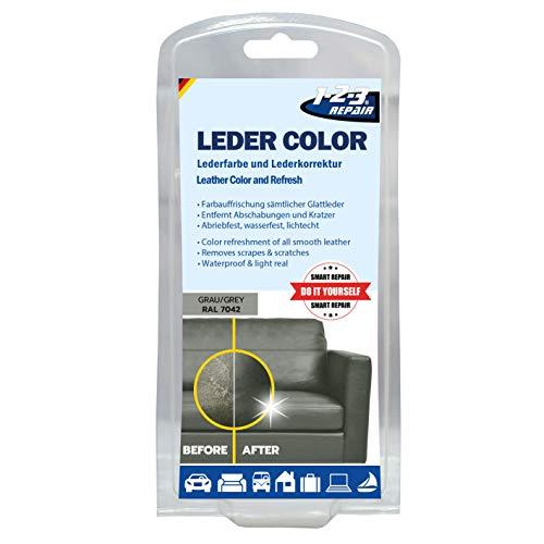 REPAIR 123Repair Lederfarbe - Ledercouch wie Neu - Lederfärbemittel - Grau 57ml