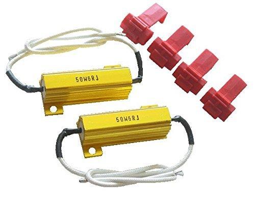 PA 2 x 50 W 6 Ohm ampoules LED Doré Charge résistance fixateur d'erreur gratuit