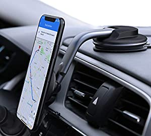 Best Viewing:The base is able to rotate through 360 degrees, and the adjustable arm and ball joint makes it easy to find the ideal phone viewing angle Reliable Adhesion: Fixes securely to a flat surface on your dashboard. Features an additional stick...