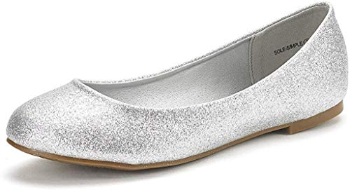 Top 10 best selling list for womens silver flat shoes
