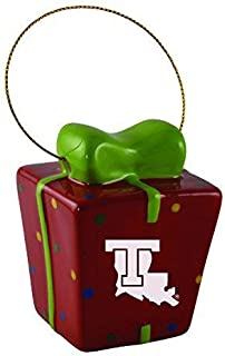 Louisiana Tech University-3D Ceramic Gift Box Ornament
