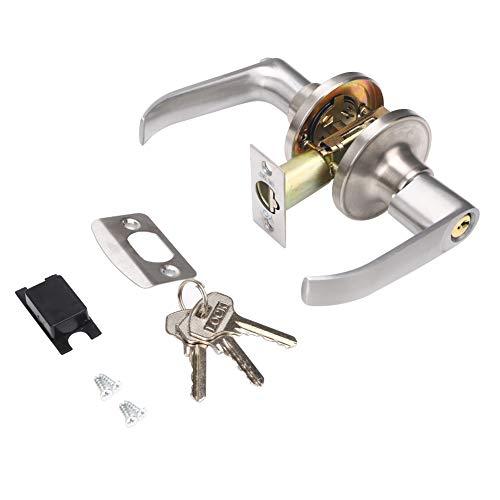 Picaporte con llave, cerradura para puerta interior, manillas de habitaciones