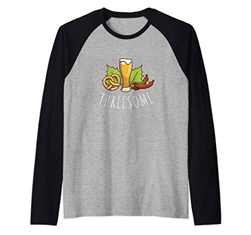 Threesome | Bier, Brezel und Wurst Oktoberfest Fun Raglan