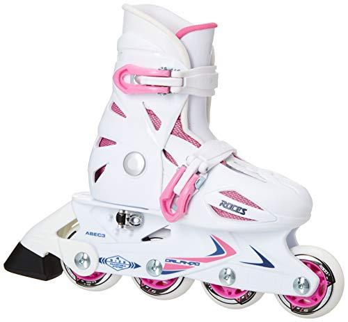 Roces Teen-Boys Modell Orlando III Kinder Inline Skate Größe, weiß/pink, US 9–12Jr