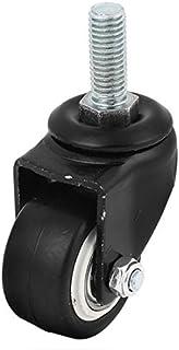 eDealMax a15041300ux0037 Stem Caster Wheel Office Chairs 10Mm Threaded Stem 40Mm Dia Rubber Swivel Caster Wheel
