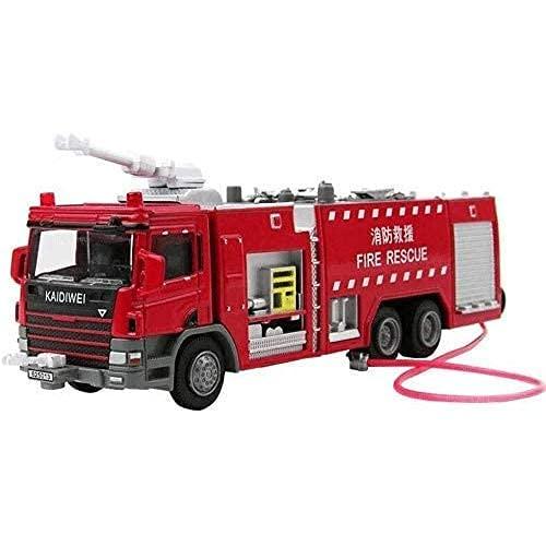 SXLCKJ 1/50 Modelo de Coche de aleación de fundición a presión Modelo de Coche de ingeniería combinación de Juguetes Escalera Ascender camión de Bomberos vehículo de Rescate de Juguete (Coche