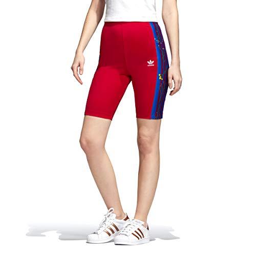 adidas Originals Damen Radhose mit Blumenmuster bestickt - Pink - X-Klein