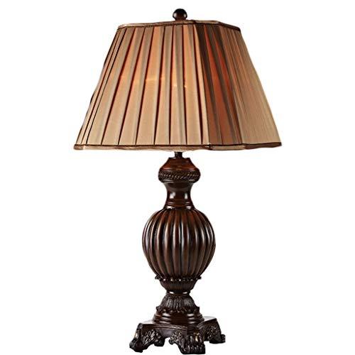 Tischlampe Europäische Tischlampe Schlafzimmer Retro Amerikanische Tischlampe Schlafzimmer Nachttischlampe Wohnzimmer Land Kreative Romantische LCSHAN (Size : Dimming medium)