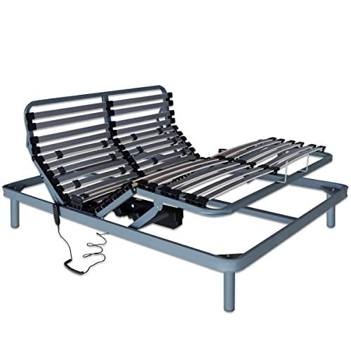 Ventadecolchones - Cama Articulada Reforzada con Subida Y Montaje con Motor eléctrico Medida 150 x 190 cm