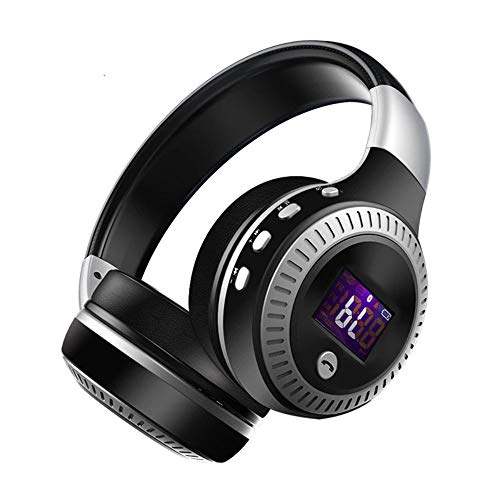 Zealot B19 Wireless Headphones with fm Radio Bluetooth Headset Stereo Earphone with Microphone for Computer Phone,Support TF,Aux (Black Sliver)
