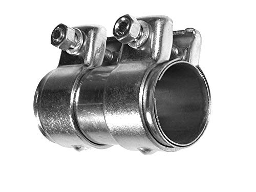 BITS4REASONS E-TECH EC002 New Model Heavy Duty Adjustable Exhaust Pipe Joiner/Connector (36-38MM, 90MM Long )