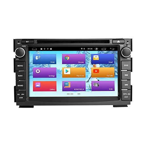 ZLTOOPAI Android 10 Auto DVD-Player Autoradio für Kia Ceed Venga 2010-2012 Stereo Auto GPS Navigation Media Player Doppelte Din Head Unit mit IPS DSP Car Play